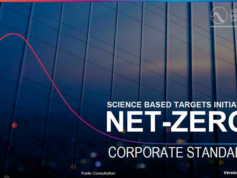 SBTがネットゼロ基準を開発