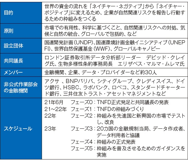 ■ 自然関連財務情報開示タスクフォース(TNFD)の概要