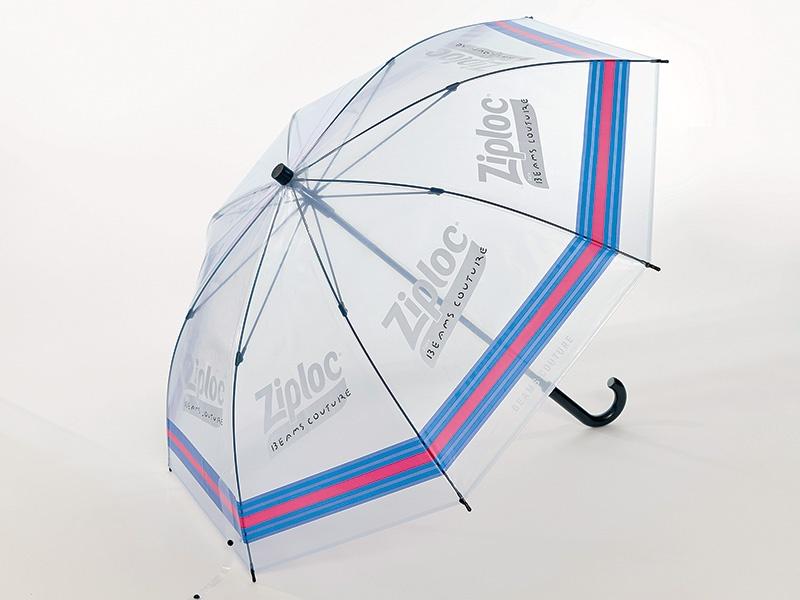 ジップロックを貸し傘に