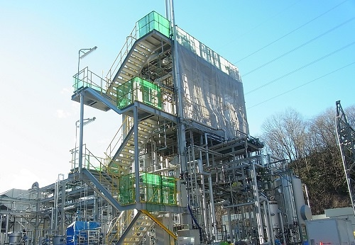 The Sekisui Chemical plant gasifying household refuse to generate ethanol