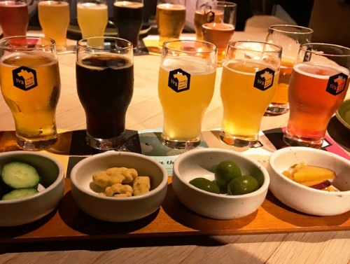 Kirin Brewery has opened pubs offering craft beers, and supports hop production in Tono city