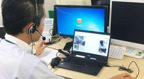 Introduction of a video chat system to assist investigations of remote accidents