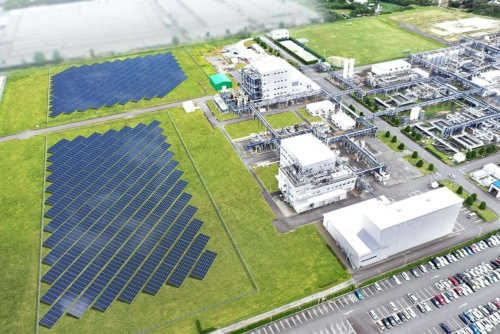 A solar power generating facility is scheduled to build  for onsite consumption in the Onahama Plant in Iwaki-city, Fukushima,