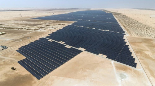 Abu Dhabi power generation project consisting of roughly 3 million solar power panels.