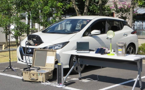 Providing EVs for use in disaster areas as emergency power supplies