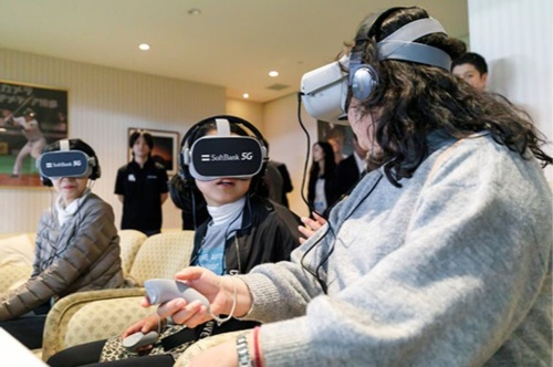 5G will enable readily available, high-quality virtual reality (VR) and augmented reality (AR) (SoftBank)