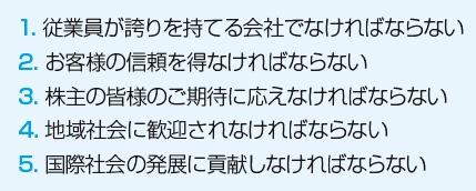■ 5つの心得