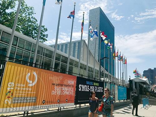ハイレベル政治フォーラム開催中の国連本部