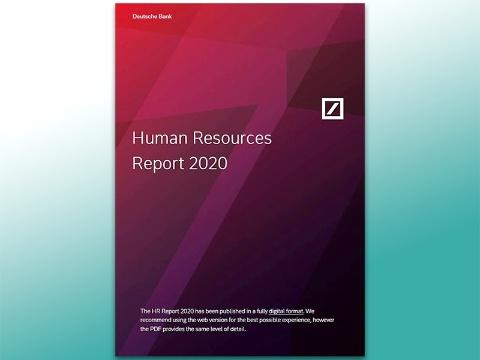 ドイツ銀行のHRリポート「Human Resources Report 2020」の表紙