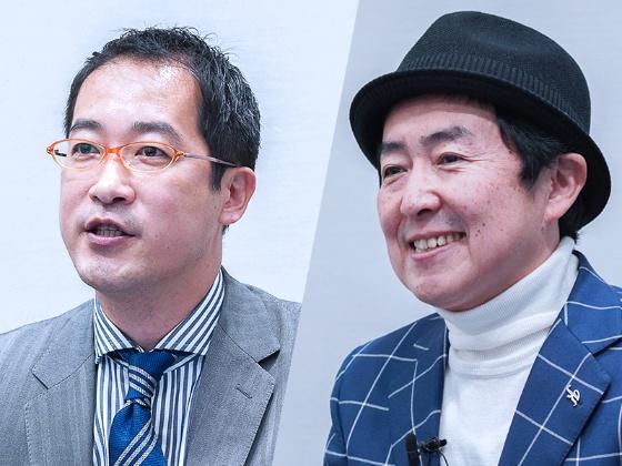 empheal 代表取締役社長 西口 孝広 氏(左)、アナウンサー 笠井 信輔 氏