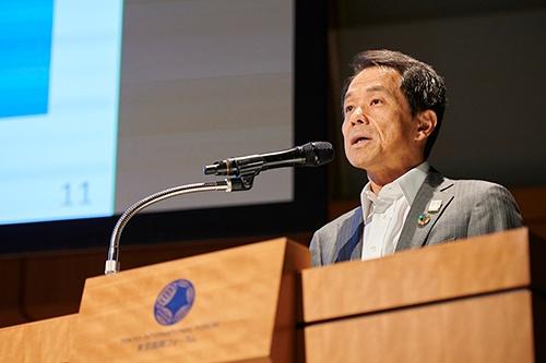日本生命保険 代表取締役社長の清水博氏