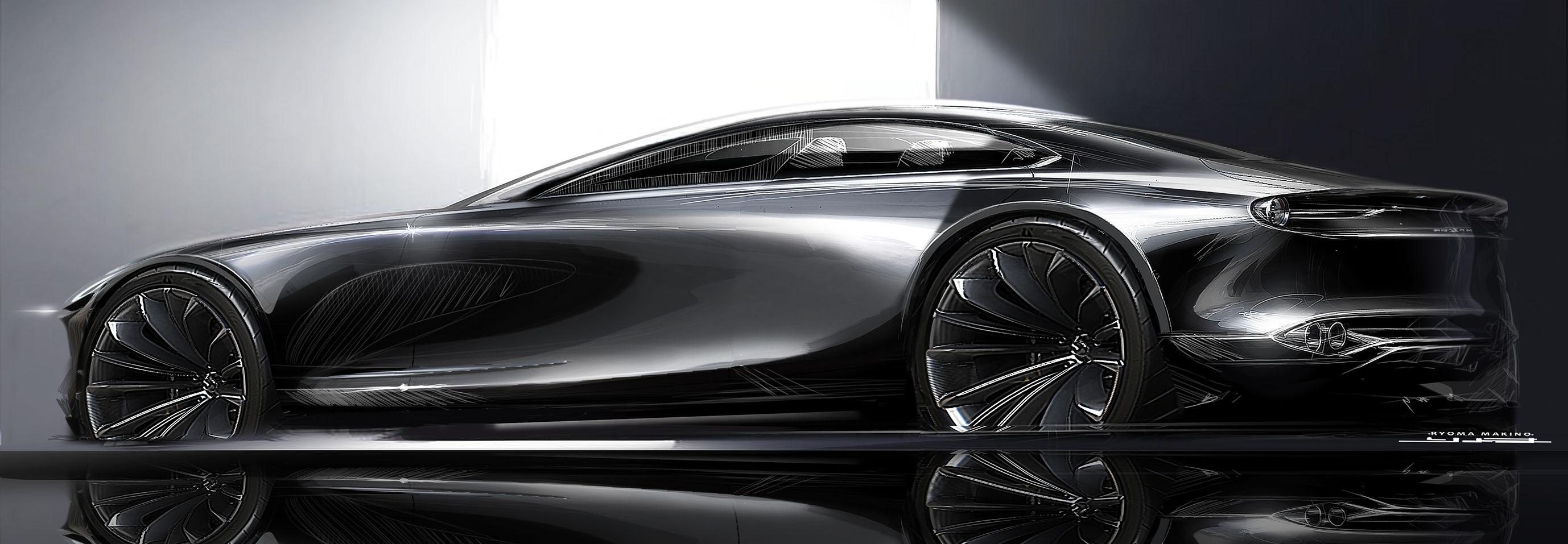 マツダのコンセプトカー「VISION COUPE」のデザインスケッチ