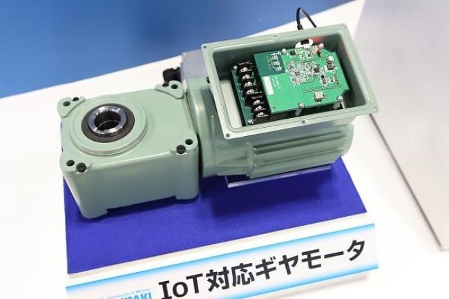 つばきグループが展示した「IoT対応ギヤモータ」