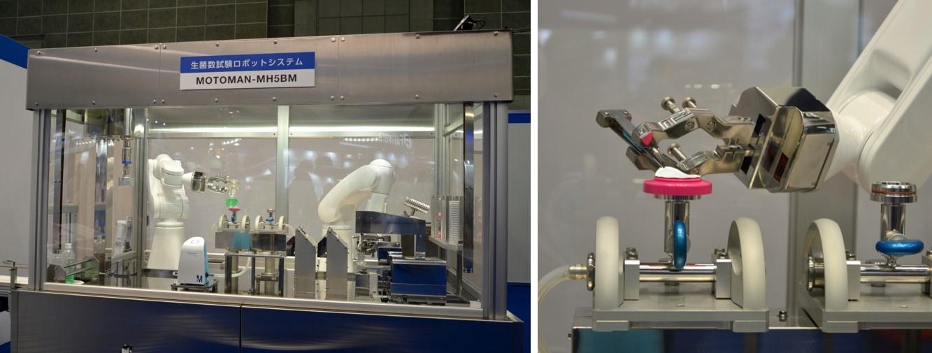 図4 汎用ロボットを使って生菌試験を自動化