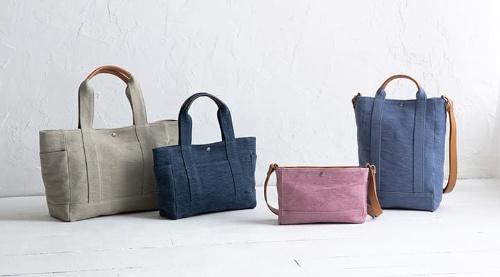 コーヒー袋などに使われる安くて丈夫な素材だったジュートを磨き上げ、独特の風合いを持つバッグに(写真提供:マザーハウス)