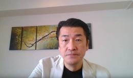 オンラインで登壇したアクセンチュア イノベーションセンター福島 センター共同統括 マネジング・ディレクターの中村彰二朗氏(出所:アクセンチュア)