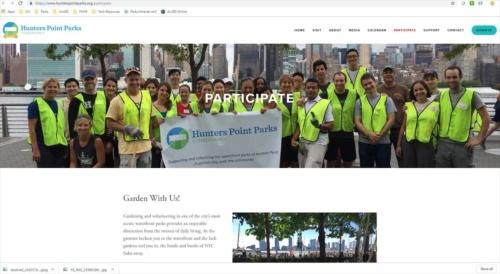 ハンターズ・ポイント・サウス・パークでは、ボランティア中心のハンターズ・ポイント・パークス・コンサーバンシー(Hunters Point Parks Conservancy)が公園を運営する(Hunters Point Parks Conservancyの ウェブサイトより)