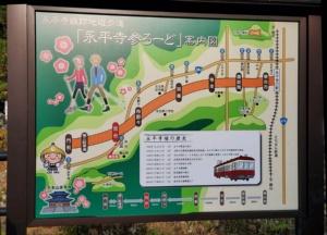 (写真2)永平寺町で小型電動カートによる自動運転の実証実験が行われた「永平寺参ろーど」(写真:元田光一)