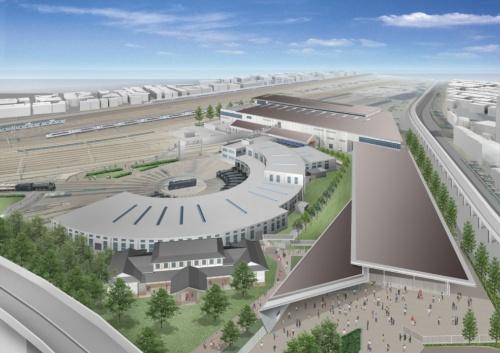 鉄道博物館の全景外観イメージ(資料:西日本旅客鉄道)