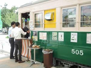 市電カフェは様々な客層が立ち寄る(写真:編集部)