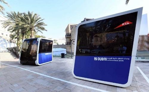 図2 自動運転EVバス「pods」(出所:RTA)