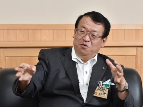 飯田市長・牧野光朗氏(写真:上野英和)