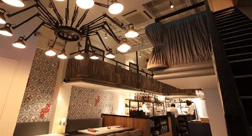 バルニバービの1号店、大阪・南船場のレストラン「Hamac de Paradis(アマーク・ド・パラディ)」(全118席)。「自分たちでセメントをこね、ペンキを塗ってつくった」(佐藤社長)という(提供:バルニバービ)