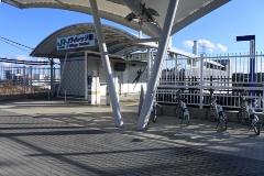 図3●Jヴィレッジ駅のサイクルポート