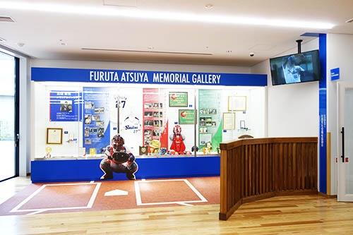 福祉棟1階には川西市出身の元プロ野球選手、古田敦也氏のギャラリーも