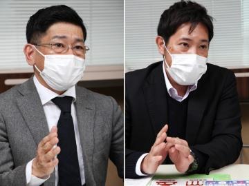 墨田区の岩本健一郎氏(左)、吉田英宣氏(右)(撮影:2点とも柳生貴也)