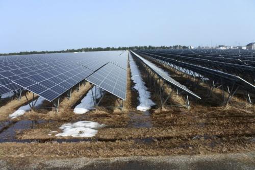 図2●太陽光パネルは東芝製、パワーコンディショナー(PCS)は東芝三菱電機産業システム(TMEIC)製、蓄電池システムはTMEICが構築した