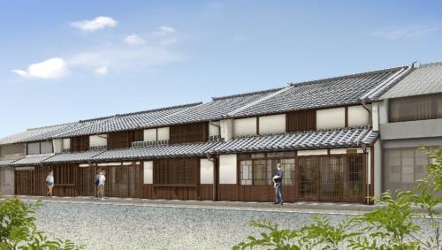 完成後の宿泊施設のイメージ(資料:津山市)