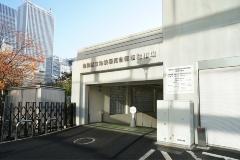南池袋公園の地下には東京電力の変電所と駐輪場が。写真は駐輪場の入り口(写真:日経BP総研)