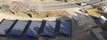 NTT東日本施設敷地内の太陽光発電設備