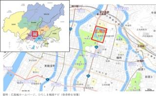広島城の位置(資料:広島市)