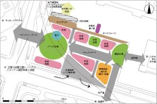 「広島城基本構想」で示された三の丸の機能導入イメージ(資料:広島市)