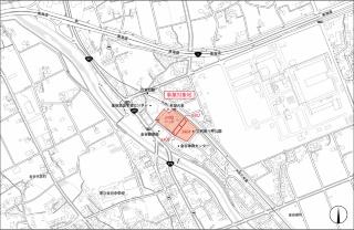 事業対象地の位置(資料:島田市)