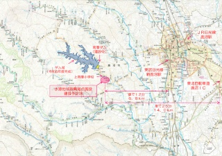 建設予定地の位置(資料:鹿沼市)