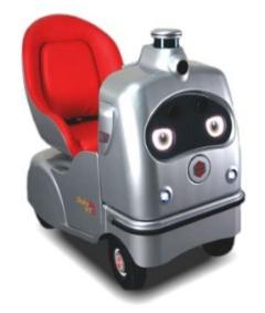 自動運転1人乗りロボ「ラクロ」(画像:つちうらMaaS推進協議会)