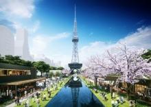 もちの木広場上からテレビ塔を臨むイメージ(資料提供:名古屋市)