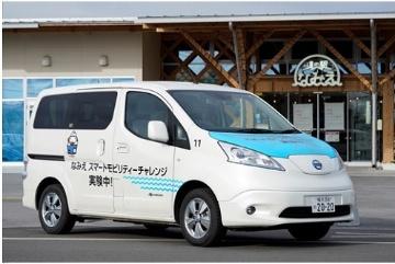 巡回シャトルで使用する自動運転デモ車両「日産eNV200改」(資料提供:日産自動車)