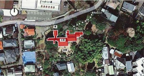 清閑亭の敷地(資料:小田原市)