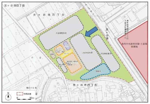 施設の配置計画図(資料:さいたま市)