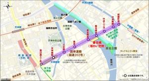 春吉橋の位置(資料提供:国土交通省)
