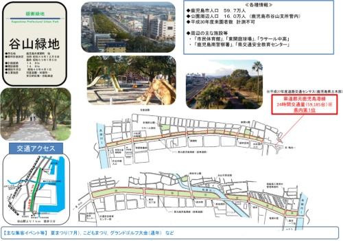 谷山緑地の概要(鹿児島県が2019年に実施したサウンディング調査資料より)