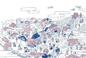 「池上エリアリノベーションプロジェクト」の取組イメージ(資料:大田区、東京急行電鉄)