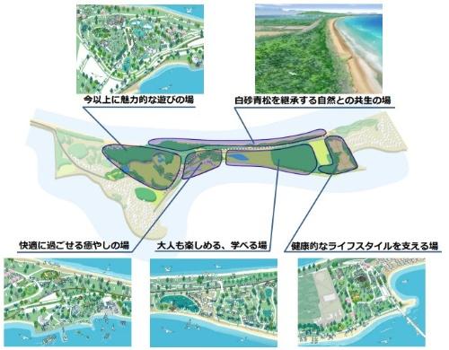 概ね10年後の公園の主なイメージ(資料:国土交通省九州地方整備局)