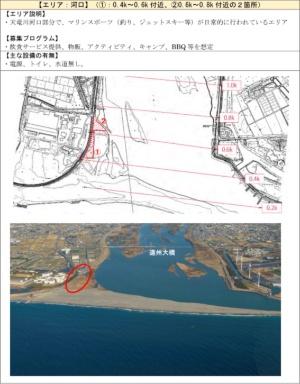 対象箇所のうち河口エリアの概要(出所:国土交通省)