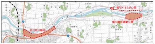 社会実験の対象地(資料:鶴岡市)