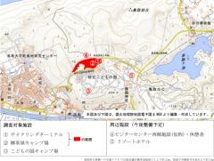 調査の対象施設等の位置図(上)と鳥取砂丘西側エリアにおける各施設の整備検討機能など(右)(出所:鳥取市)